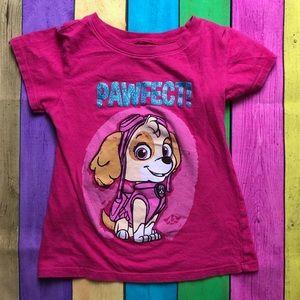 Paw Patrol Skye 4/5 XS girls pink shirt